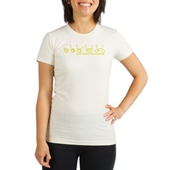 unfold_green.psd Organic Women's Fitted T-Shirt