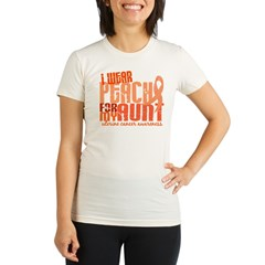 I Wear Peach 6.4 Uterine Cancer Organic Women's Fitted T-Shirt
