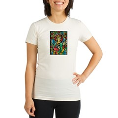 Stained Glass Queen Light Organic Women's Fitted T-Shirt