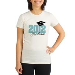 2012 graduate color aqua Organic Women's Fitted T-Shirt