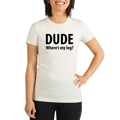 DudeLeg Organic Women's Fitted T-Shirt