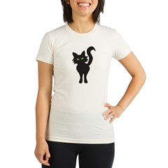 Black Cat Organic Women's Fitted T-Shirt