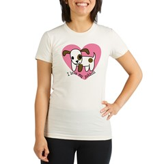 ilovemypitbull copy Organic Women's Fitted T-Shirt