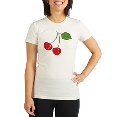 Classic Cherry Organic Women's Fitted T-Shirt