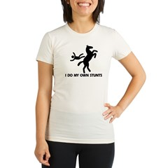 Rearing Horse 'Stunts' Organic Women's Fitted T-Shirt