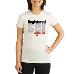 Registered Set Offender Organic Women's Fitted T-Shirt