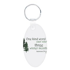 Kind Word Aluminum Oval Keychain