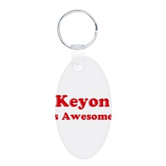 Keyon is Awesome Aluminum Oval Keychain
