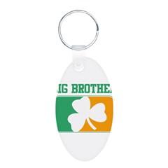 BIG BROTHER (Irish) Aluminum Oval Keychain