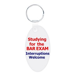 Bar Exam Aluminum Oval Keychain