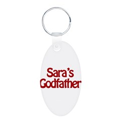 Sara's Godfather Aluminum Oval Keychain