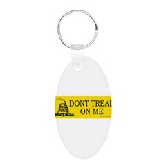 Dont tread on me Aluminum Oval Keychain