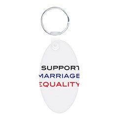 marriage Aluminum Oval Keychain