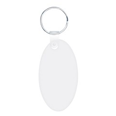 Purple Heart and Butterfly's Aluminum Oval Keychain