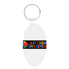 Autism Awareness Aluminum Oval Keychain