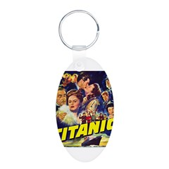 $9.99 Titanic Movie Aluminum Oval Keychain