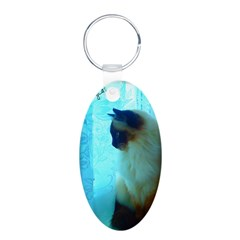DollyCat Atmosphere - Ragdoll Cat - Aluminum Oval Keychain