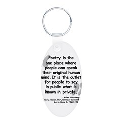 Ginsberg People Quote Aluminum Oval Keychain