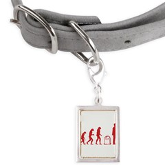 Evolution zombie Small Portrait Pet Tag