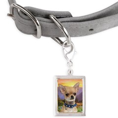 Chihuahua Meadow Small Portrait Pet Tag
