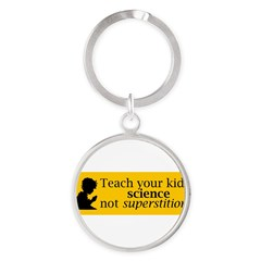Teach your kids science Round Keychain