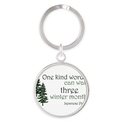 Kind Word Round Keychain