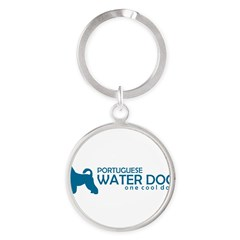 "P. Water Dog ""One Cool Dog"" Round Keychain"