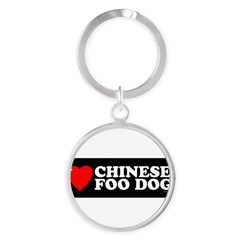 CHINESE FOO DOG Round Keychain
