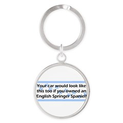 Your Car English Springer Spaniel Round Keychain