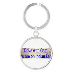 Native American-BS Round Keychain