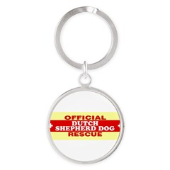 DUTCH SHEPHERD DOG Round Keychain