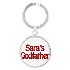 Sara's Godfather Round Keychain