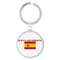 MADE IN US WITH SPANISH PARTS Round Keychain