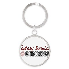 Fantasy Baseball Commish Round Keychain