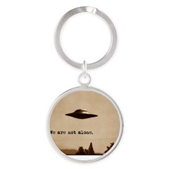 X-Files - We Are Not Alone Round Keychain