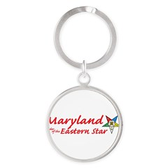 Maryland Eastern Star Round Keychain