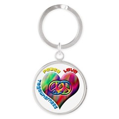Peace Love Togetherness Round Keychain