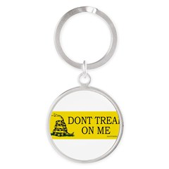 Dont tread on me Round Keychain