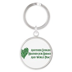 Godless For World Peace Round Keychain
