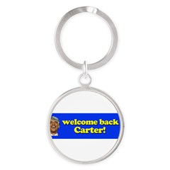 Welcome Back Carter Round Keychain