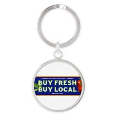 Buy Fresh Buy Local classic Round Keychain