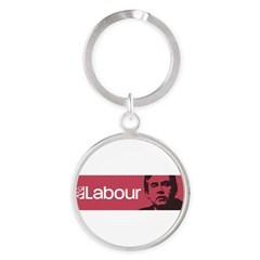 Gordon Brown Labour Party Round Keychain