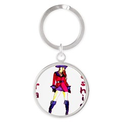 Pirate Fashion Round Keychain