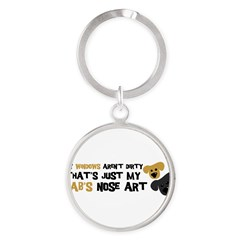 Lab Nose Art Round Keychain
