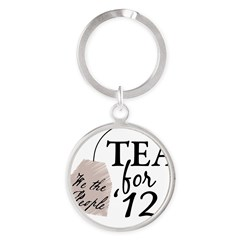 Vote Tea Party 2012 Round Keychain