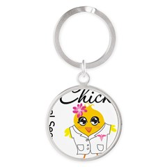 Medical Secretary Chic Round Keychain