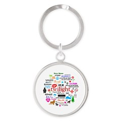 Twilight Memories Round Keychain