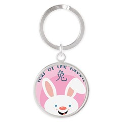 Year of the Rabbit Round Keychain