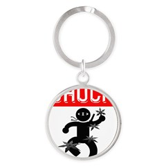 Chuck Ninja Man 4 Throwing St Round Keychain