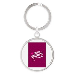 Team Edward Round Keychain